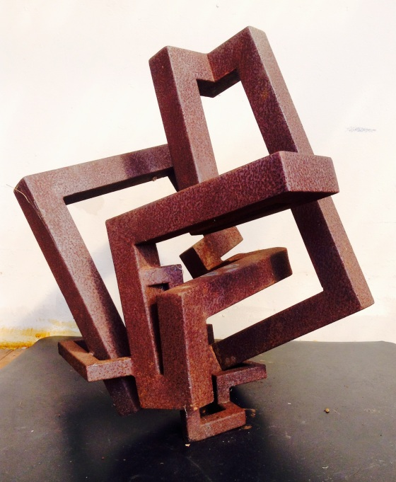 One of Tim's sculptures, recycled steel