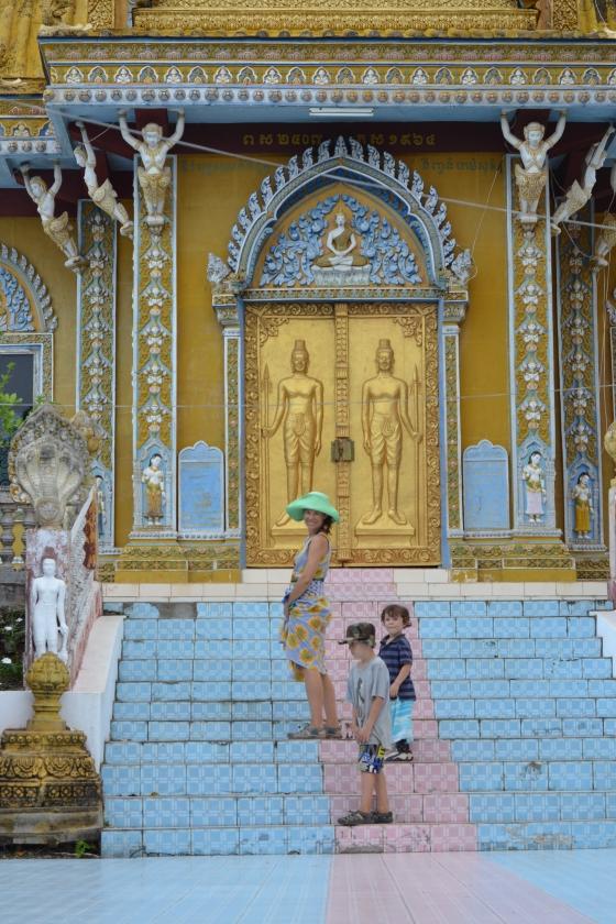 Boys and I at  Phnom Sampeau